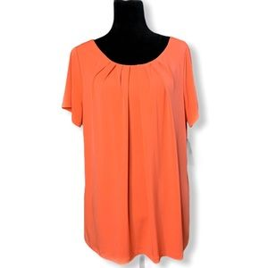 Worthington Women's Hot Coral Shirt NWT